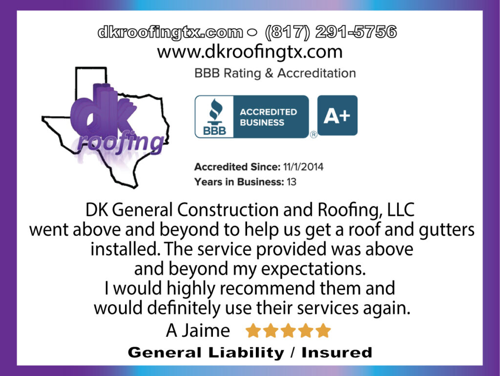 DK General Construction and Roofing, LLC - free estimates